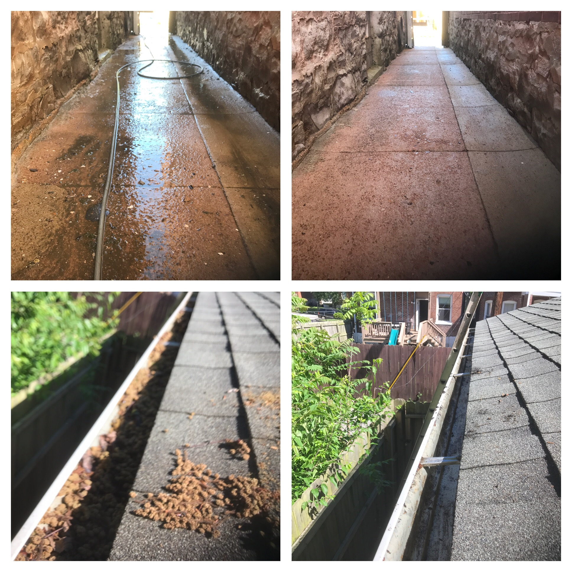 Pressure Washing Before/After and Gutters Before/After